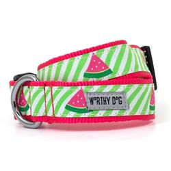 Green Stripe Watermelon Collar & Lead Collection