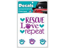 Rescue Love Repeat - Decal Sheet