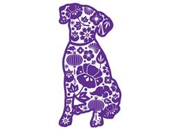 "Paisley Dog - 3"" Sticker"