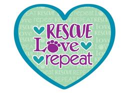 "Rescue Love Repeat - 3"" Sticker"