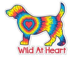 "Wild at heart Dog - 3"" Sticker"