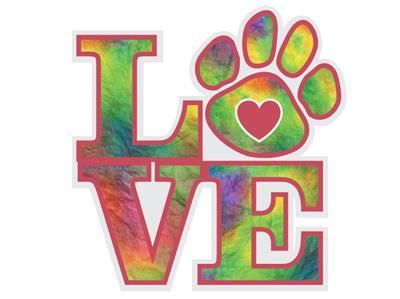 "LOVE (like decal) - 3"" Sticker"