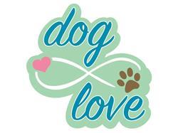 """Dog Love (w/infinity symbol) - 3"""" Sticker"""