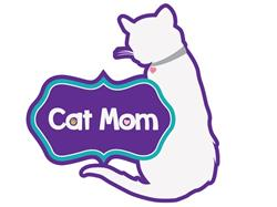 "Cat Mom - 3"" Sticker"