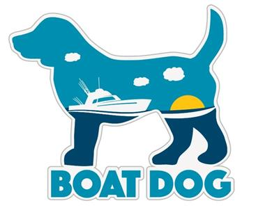 "Boat Dog - 3"" Sticker"
