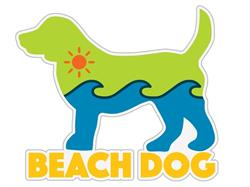 "Beach Dog - 3"" Sticker"