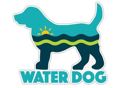 """Water Dog - 3"""" Sticker"""