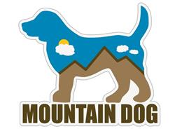 "Mountain Dog - 3"" Sticker"