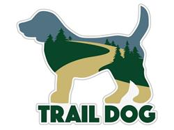 "Trail Dog - 3"" Sticker"