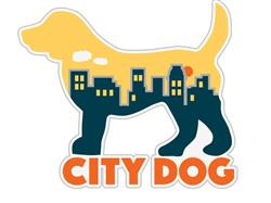 "City Dog - 3"" Sticker"
