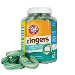Arm & Hammer Ringers Fresh Breath Dental Treats for Dogs Mint Value Pack Bucket - 32 Piece