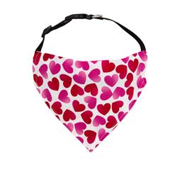 Valentines Day Dog Bandana Hearts - Over the Collar Style -5 Sizes |  BUY 10 GET 1 FREE