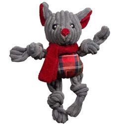 Totally Tartan Christmas Mouse Cat Toy Wee with Organic Catnip (6 pack)