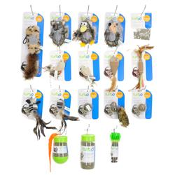 Turbo® Natural Cat Toy Display (34 pieces)