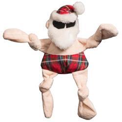 Totally Tartan Beach Bum Santa Knottie Plush Durable Dog Toy