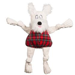 Totally Tartan Whiskey Westie Knottie Plush Durable Dog Toy