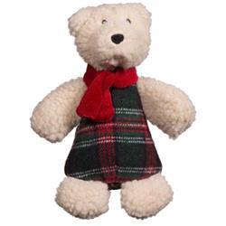 Soft n' Snugglie Chubbie Buddie Polar Bear Plush Durable Dog Toy