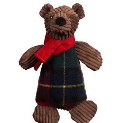 Original Corduroy Chubbie Buddie Brown Bear Plush Durable Dog Toy