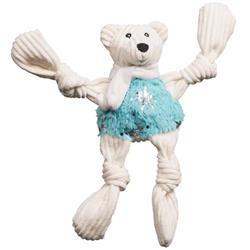 Puttin' on the Glitz Bear Knottie Plush Durable Dog Toy