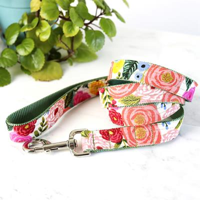 'Juliet' Cream Floral Voile Dog Collar – Rifle Paper Co. Fabric