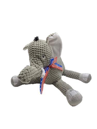 fabdog Floppy Donkey Toy with Patriotic Ribbon