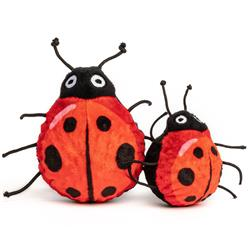 fabdog Lady Bug faball Squeaky Dog Toy