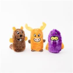 Squeakie Buddies - Pack of 3 (Beaver, Moose, Walrus)