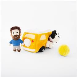 Zippy Burrow - Momo & Andrew in the Yellow Van