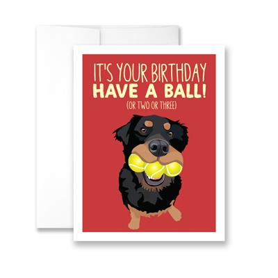 It's Your Birthday Have a Ball! (blank) Greeting Card - Pack of 6 cards