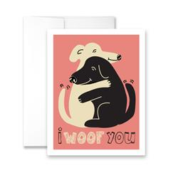 I WOOF You (blank) Greeting Card - Pack of 6 cards