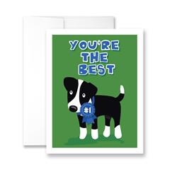 You're the Best (blank) Greeting Card - Pack of 6 cards