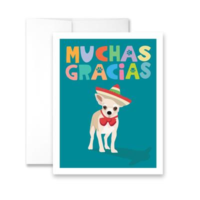 Muchas Gracias (blank) Greeting Card - Pack of 6 cards