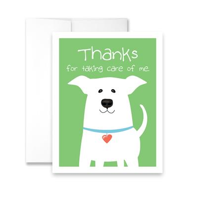 Thanks for Taking Care of Me (Dog) (blank) Greeting Card - Pack of 6 cards