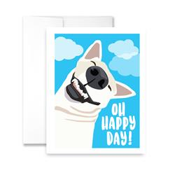 Oh Happy Days! (blank) Greeting Card - Pack of 6 cards