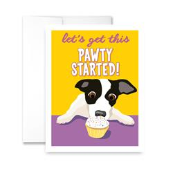 Let's Get This Pawty Started (blank) Greeting Card - Pack of 6 cards