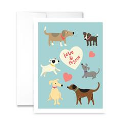 Love & Rescue (blank) Greeting Card - Pack of 6 cards