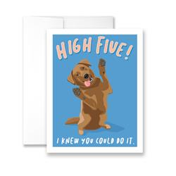 Hi Five - I Knew You Could Do It (blank) Greeting Card - Pack of 6 cards