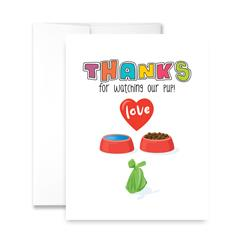 Thanks For Watching Our Pup! (blank) Greeting Card - Pack of 6 cards