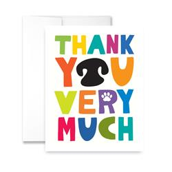 Thank You Very Much (blank) Greeting Card - Pack of 6 cards