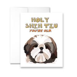 Holy Shih Tzu You're Old (blank) Greeting Card - Pack of 6 cards