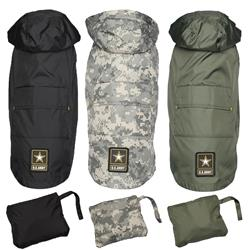 Packable Dog Raincoats by US Army