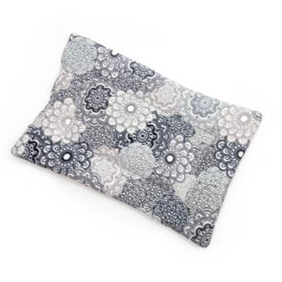 Gray Medallion Printed Fleece Fabric Flat Pet Bed