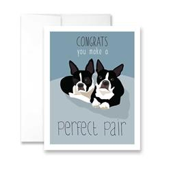 Congrats - You Make A Perfect Pair (blank) Greeting Card - Pack of 6 cards