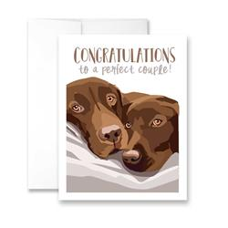 Congratulations to a Perfect Couple (blank) Greeting Card - Pack of 6 cards