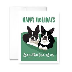 Happy Holidays From The Two of Us (blank) Greeting Card - Pack of 6 cards