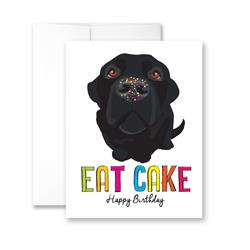 Eat Cake (blank) Greeting Card - Pack of 6 cards