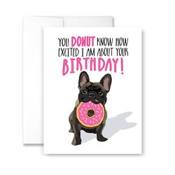 Donut Birthday (blank) Greeting Card - Pack of 6 cards