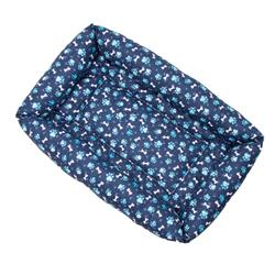Blue Paw Cotton Fabric Bumper Pet Bed