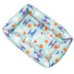 Llama Cotton Fabric Bumper Pet Bed