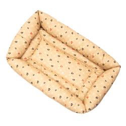 Caramel Paws in Hearts Cotton Fabric Bumper Pet Bed